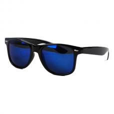 Wayfarer Zwart - Blauw Spiegel