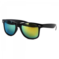 Wayfarer Black - Gold Mirror