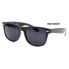 Wayfarer Mat Zwart - Donkere Glazen