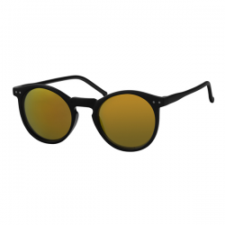 Wayfarer Round - Gold Red Mirror