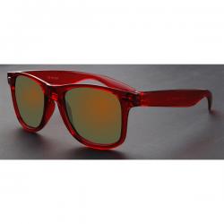 Wayfarer Transparant Rood - Goud Rood Spiegel