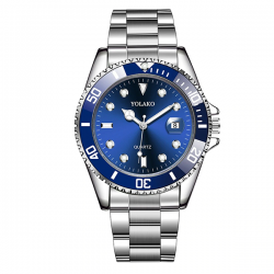 Yolako Silver Blue Steel - Men Watch